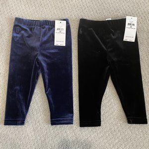 NWT Ralph Lauren coordinating velvet leggings 9M